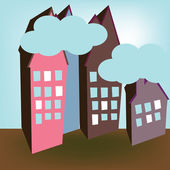 Street of houses — Stock Vector