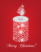 Christmas canddle card — Stock Vector