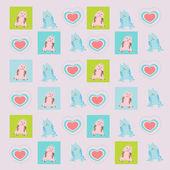 可爱猫咪图案 — 图库矢量图片