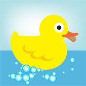 Gumowe kaczki w wodzie — Wektor stockowy