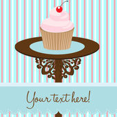 Cupcake background card — Stock Vector
