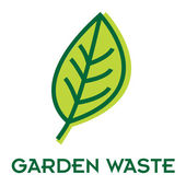 Garden waste recycle sign — Stock Vector