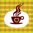 Cup of coffee background — Stock Vector #6540038