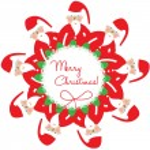 Santa christmas decoration — Stock Vector