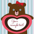 Stock Vector: Teddy bear love card