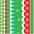 Stock Vector: Christmas wrapping pattern