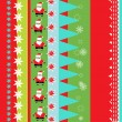 Christmas wrapping paper pattern - Stock Vector