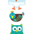 Three types of birds — Stock Vector