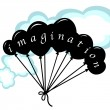 Stock Vector: Imagination balloons in sky
