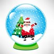 Santa snow globe — Stock Vector