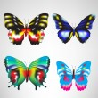 Four butterflies — Stock Vector #6540795