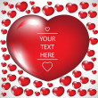Royalty-Free Stock Imagem Vetorial: Valentine heart card