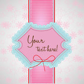 Cute valentine card — Stock Vector