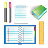 Office school supply set — Stock Vector