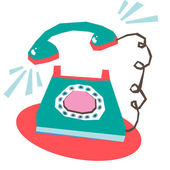 Telephone ringing — Stock Vector