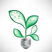 лампа с листьями — Cтоковый вектор