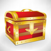 Closed treasure chest — Stock Vector