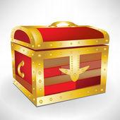 Closed treasure chest — Stock Vector