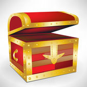 Open empty treasure chest — Stock Vector