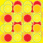 Lemon slices background — Stock Vector