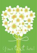 Flowers bouquet card — Stock Vector