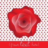 Valentine rose card — Stock Vector
