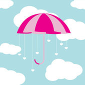 Parapluie de la saint-valentin — Vecteur