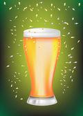 Celebration beer glass — Stock Vector