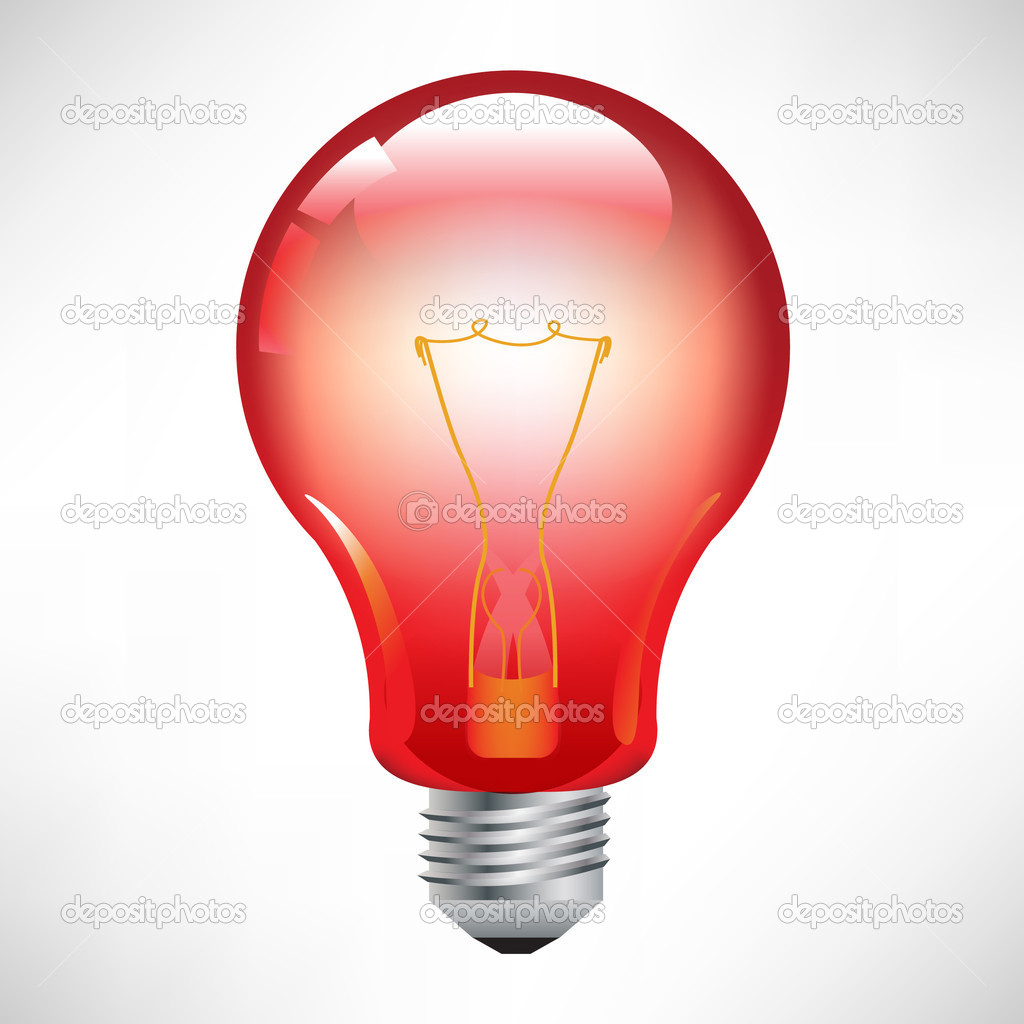 Red Light Bulb Stock Vector Corneliap 6540374