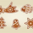 Royalty-Free Stock Vector Image: Gingerbread collection