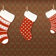 Vector de stock : Christmas socks