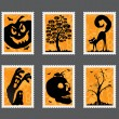 Halloween stamp set - Stock Vector