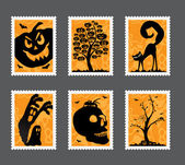 Halloween stamp set — Stock Vector