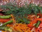 Kött och grönsaker — Stockfoto