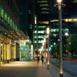 Canary Wharf at night - Stock Photo