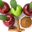 Stock Photo: Cinnamon and apples