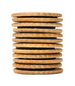 Chocolate Sandwich Cookies — Stock Photo