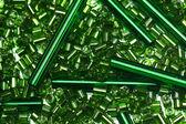 Green glass beads — Stock Photo