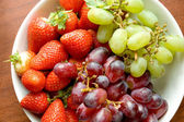 Fruits on the bowl — Stock Photo