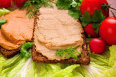 Sandwiches with pate — Stock Photo