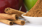 Skořice a jablka — Stock fotografie