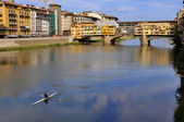 Vecchio Bridge , Florence , Italy — Stock Photo