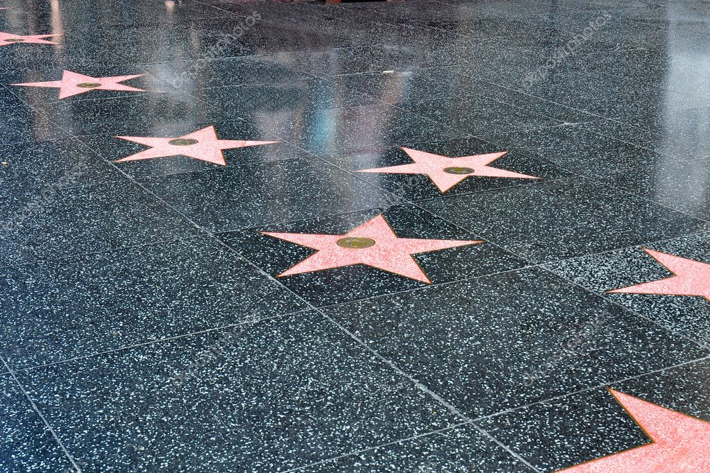stars on the hollywood walk of fame stock editorial