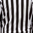 Official referee shirt stripes - Stock Photo