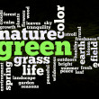 Green nature environment words — Stock Photo #6592514