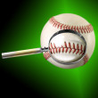Baseball magnifying glass — Stock Photo