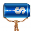 Can success manikin — Stock Photo