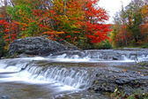 Autumn waterfalls — Stock Photo