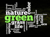 Green nature environment words — Stock Photo