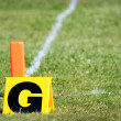 Football goal markers — Stock Photo #6603426